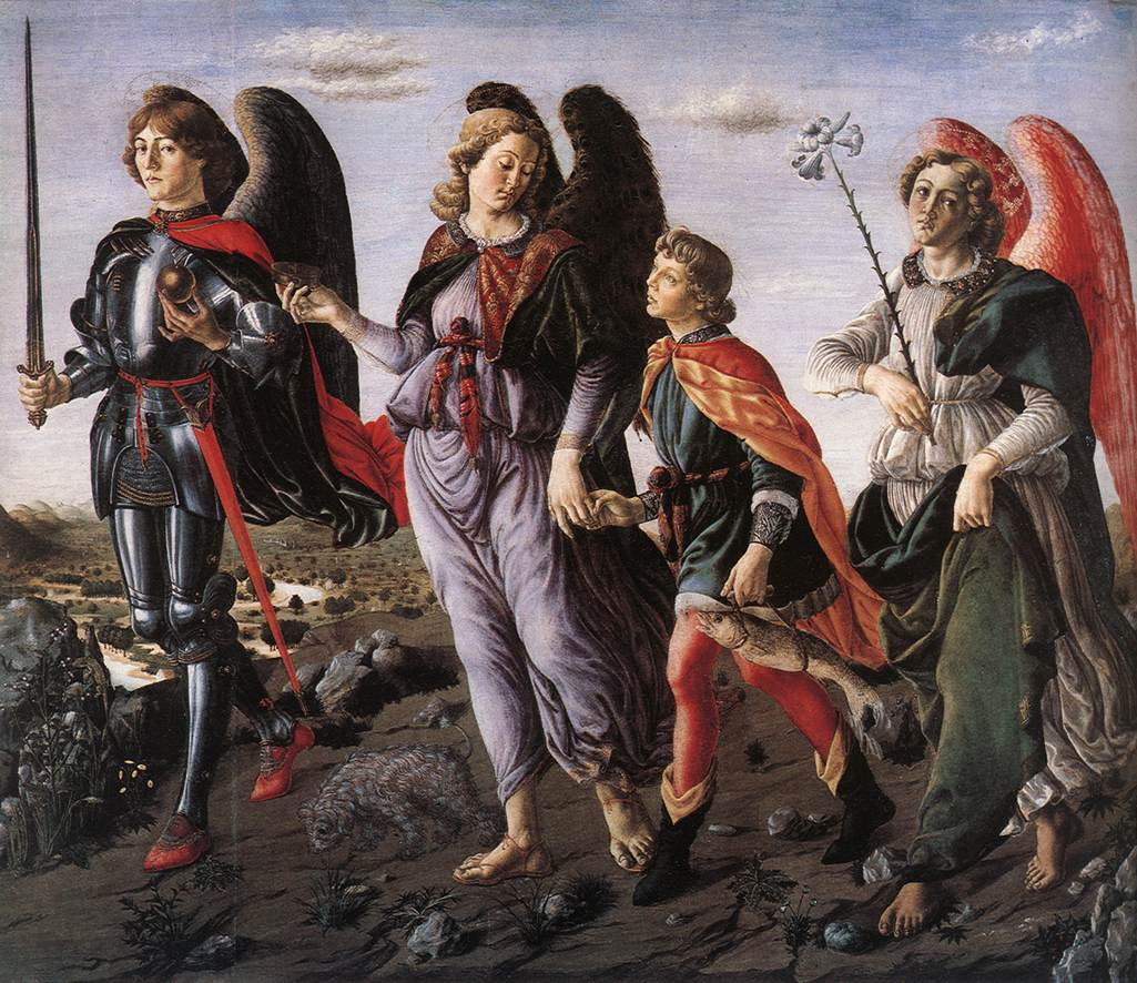 BOTTICINI FRANCESCO / The Three Archangels With Tobias